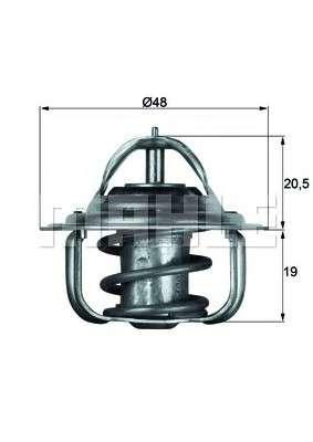 MAHLE ORIGINAL TX 5 83D Термостат, охлаждающая жидкость