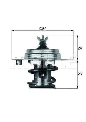 MAHLE ORIGINAL TX 7 88D Термостат, охлаждающая жидкость