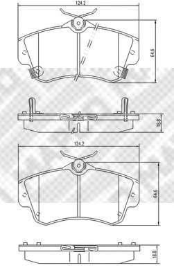 MAPCO 6721 Комплект тормозных колодок, дисковый тормоз