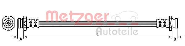 METZGER 4110469 Тормозной шланг