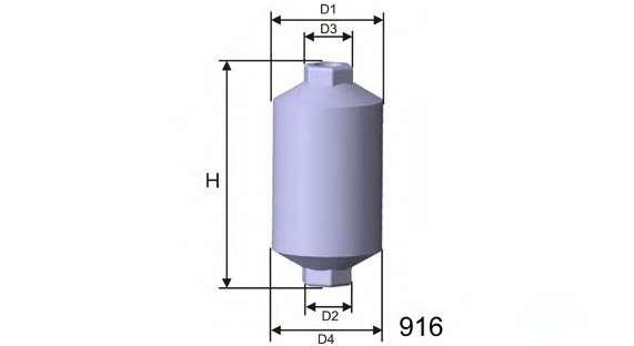 MISFAT E502 Топливный фильтр