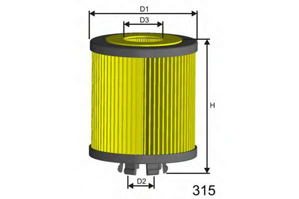 MISFAT L112 Масляный фильтр