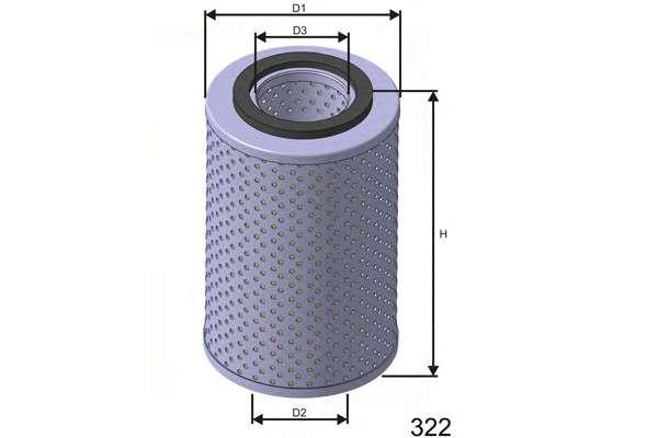 MISFAT L539 Масляный фильтр