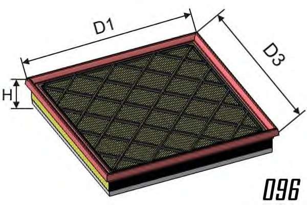 MISFAT P465A Воздушный фильтр