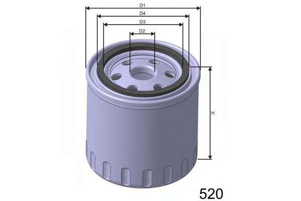 MISFAT Z127B Масляный фильтр