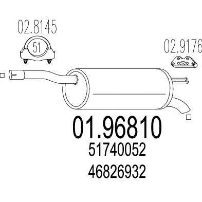 MTS 01.96810 Глушитель выхлопных газов конечный