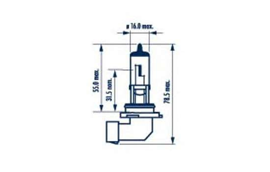 NARVA 48613 Лампа накаливания, фара дальнего света; Лампа накаливания, основная фара; Лампа накаливания, противотуманная фара; Лампа накаливания, основная фара; Лампа накаливания, фара дальнего света; Лампа накаливания, противотуманная фара