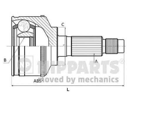 NIPPARTS N2820918 Шарнирный комплект, приводной вал