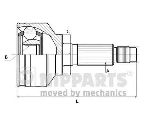 NIPPARTS N2820923 Шарнирный комплект, приводной вал