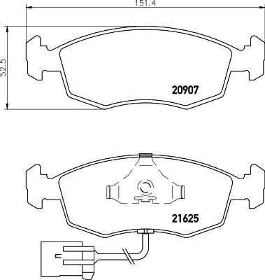 PAGID T1080 Комплект тормозных колодок, дисковый тормоз