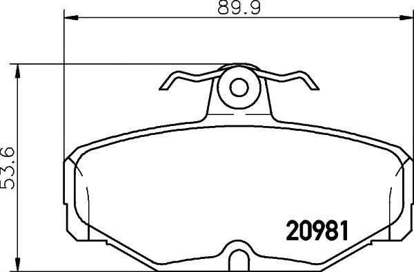 PAGID T5006 Комплект тормозных колодок, дисковый тормоз