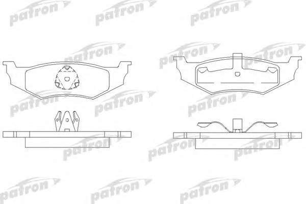 PATRON PBP1099 Комплект тормозных колодок, дисковый тормоз