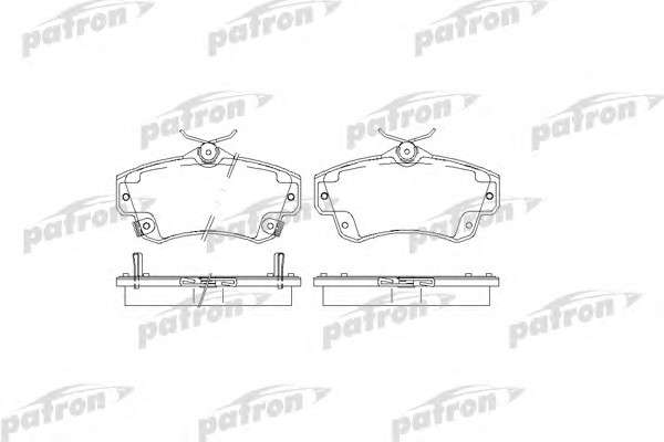 PATRON PBP1442 Комплект тормозных колодок, дисковый тормоз