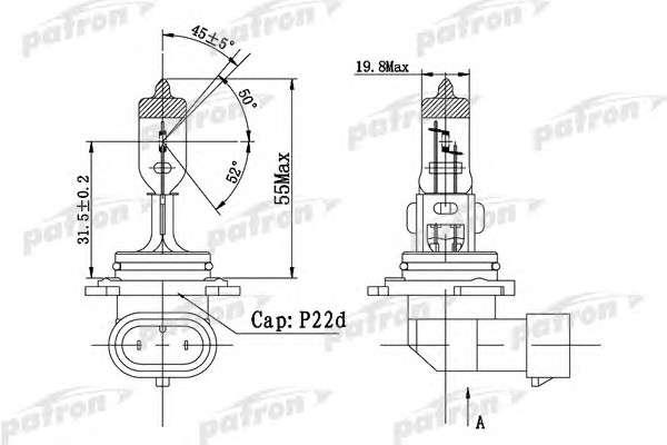 PATRON PLHB4-12/51 Лампа накаливания, фара дальнего света; Лампа накаливания, основная фара; Лампа накаливания, противотуманная фара; Лампа накаливания, основная фара; Лампа накаливания, фара дальнего света; Лампа накаливания, противотуманная фара