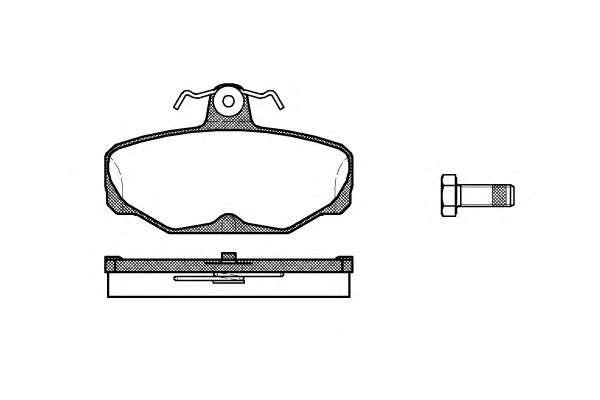 REMSA 0205.00 Комплект тормозных колодок, дисковый тормоз