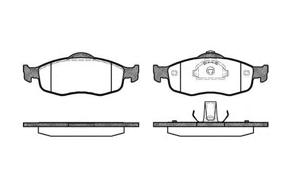 REMSA 0432.00 Комплект тормозных колодок, дисковый тормоз