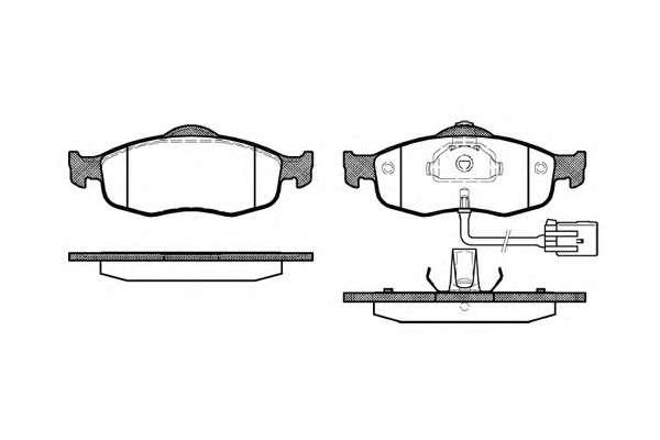 REMSA 0432.02 Комплект тормозных колодок, дисковый тормоз