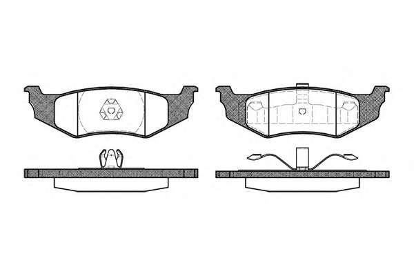 REMSA 0482.40 Комплект тормозных колодок, дисковый тормоз