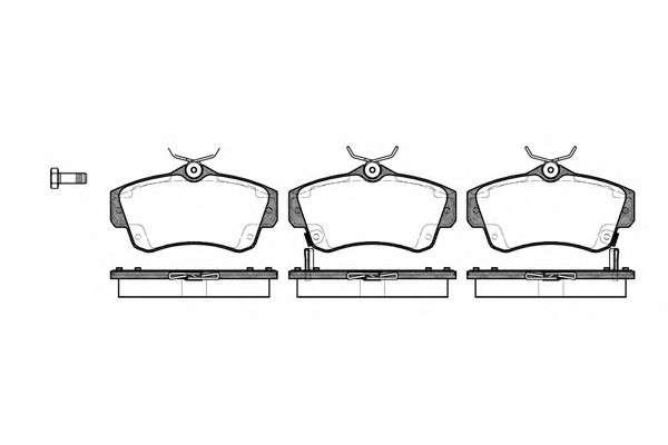 REMSA 0753.02 Комплект тормозных колодок, дисковый тормоз