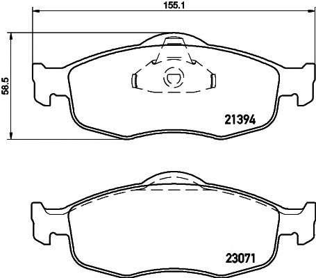 TEXTAR 2139408 Комплект тормозных колодок, дисковый тормоз