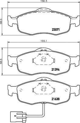 TEXTAR 2307104 Комплект тормозных колодок, дисковый тормоз