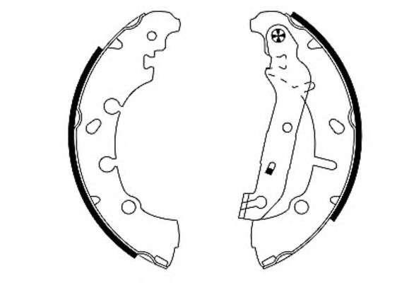 TEXTAR 91057300 Комплект тормозных колодок