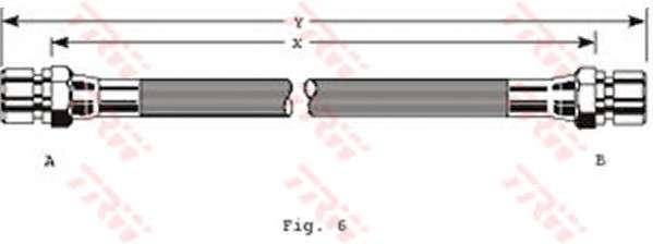 TRW PHA229 Тормозной шланг
