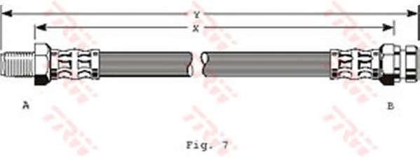 TRW PHB142 Тормозной шланг
