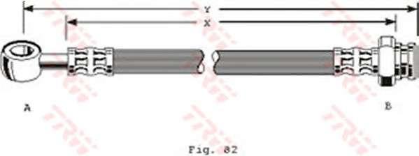 TRW PHD156 Тормозной шланг