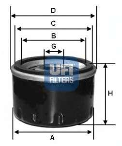 UFI 23.455.00 Масляный фильтр