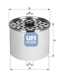 UFI 24.361.00 Топливный фильтр