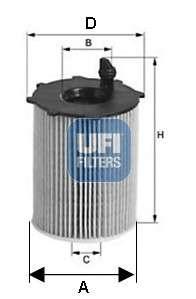 UFI 25.142.00 Масляный фильтр