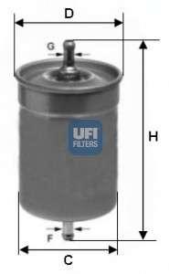 UFI 31.500.00 Топливный фильтр