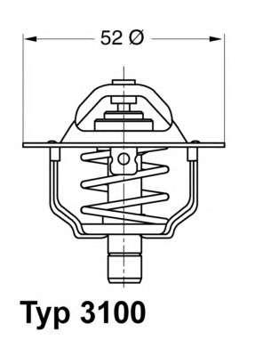 WAHLER 3100.88D Термостат, охлаждающая жидкость