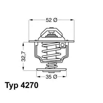 WAHLER 4270.88D Термостат, охлаждающая жидкость