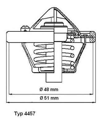 WAHLER 4457.82D Термостат, охлаждающая жидкость