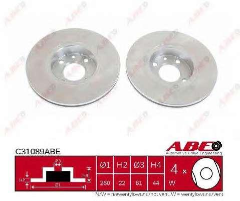 Запчасть C31089ABE ABE Гальмівний диск фото