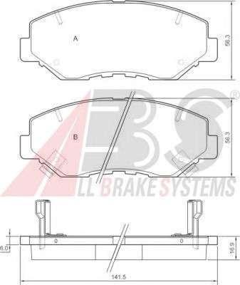 Запчасть 37424 A.B.S. Колодка торм. диск. HONDA CR-V передн. (пр-во ABS) фото