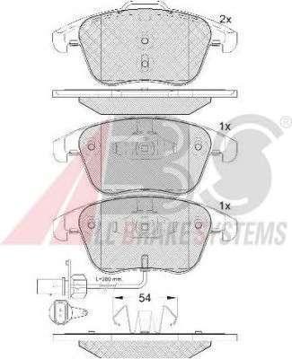 Запчасть 37612 A.B.S. Колодка торм. диск. AUDI Q3 (06/11-) передн. (пр-во ABS) фото