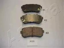 Запчасть 51-0K-K09 ASHIKA Колодки тормозные дисковые задние HYUNDAI ACCENT (пр-во ASHIKA) фото