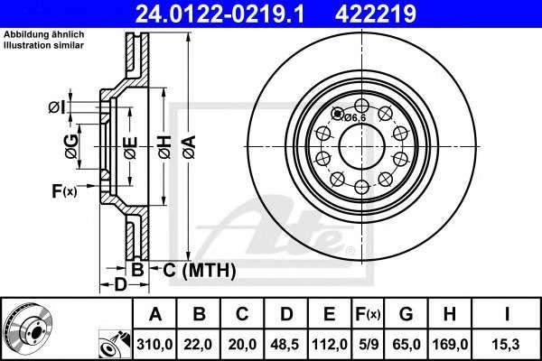 Запчасть 24012202191 ate Тормозной диск