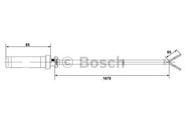 Запчасть 0 265 004 010 BOSCH Датчик числа оборотов MB SPRINTER, VW LT (пр-во Bosch) фото