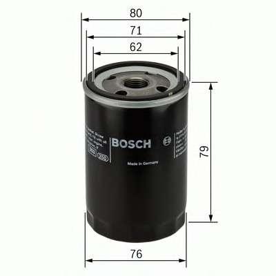 Запчасть 0451103298 bosch Масляный фильтр
