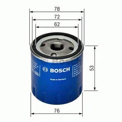 Запчасть 0451103336 BOSCH Фильтр масляный двигателя DACIA, RENAULT (пр-во Bosch) фото