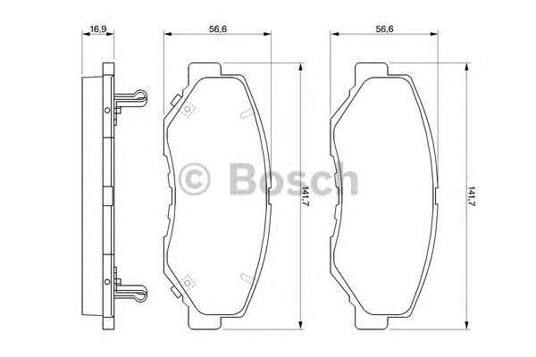 Запчасть 0 986 424 809 BOSCH Колодка торм. диск. HONDA CR-V передн. (пр-во Bosch) фото