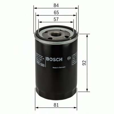 Запчасть 0986452036 BOSCH Фильтр масляный двигателя HONDA, MAZDA (пр-во Bosch) фото
