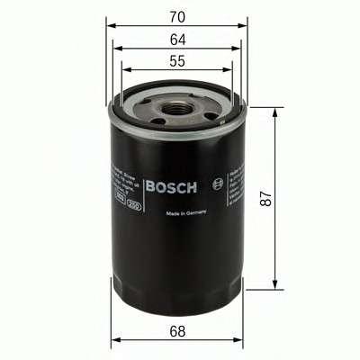 Запчасть 0986452041 BOSCH Фильтр масляный двигателя HONDA, MITSUBISHI (пр-во Bosch) фото