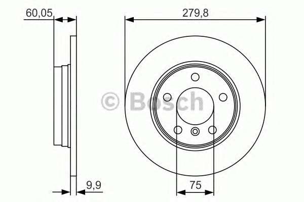 Запчасть 0986479S34 BOSCH Гальмівний диск BMW E36/E46 316/328 ''R PR2 фото