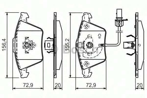 Запчасть 0986494271 bosch Комплект тормозных колодок, дисковый тормоз