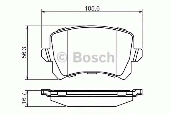 Запчасть 0 986 494 344 BOSCH Колодка торм. диск. AUDI Q3, VW PASSAT, TIGUAN задн. (пр-во Bosch) фото